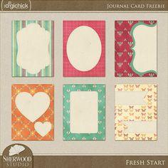 Fresh Start journal cards freebie from Sherwood Studio #Printable #ProjectLife
