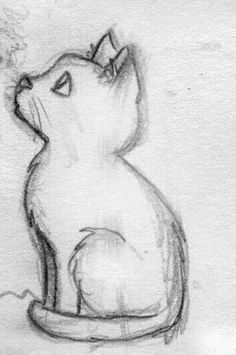 Art Sketchbook Ideas Easy For Kids Girl Drawing Sketches, Art Drawings Sketches Simple, Pencil Art Drawings, Cat Drawing, Cartoon Drawings, Cool Drawings, Tattoo Sketches, Gesture Drawing, Drawing Ideas