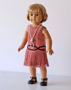 """Love the Hair American Girl Doll Clothing, Downton Abby Inspired Doll Outfit, Rose American Girl Doll dress, Flapper Dress for 18"""" dolls, ag doll dress"""