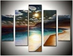 Abstract Painted Painting Decoration Unstretch
