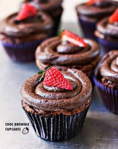 CHOC Brownie Cupcake