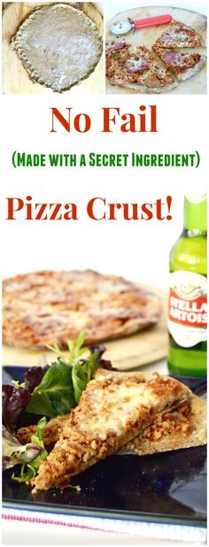 No Fail Rye Flour Pizza crust! Make your own topping pizza's allow for picky palates while the special ingredient in these pizza's crusts make them so much better than your average pizza crust or anyt