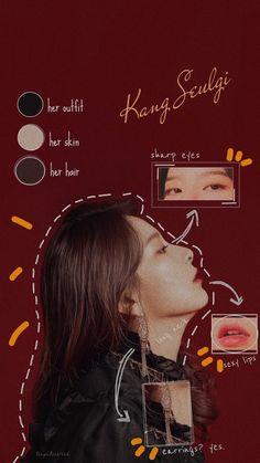 Red Velvet, Face Anatomy, Face Swaps, Kang Seulgi, Her Hair, My Idol, Ulzzang, Eyes, Button Nose