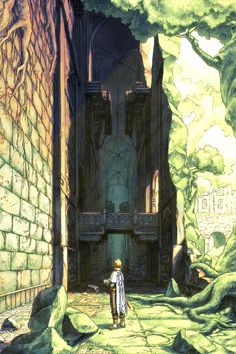 The path that awaits the man will be a difficult one as he would have to pass through the ruins where monsters live