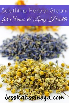 Soothing Herbal Salt Steam for Lung and Sinus Health // deliciousobsessions.com