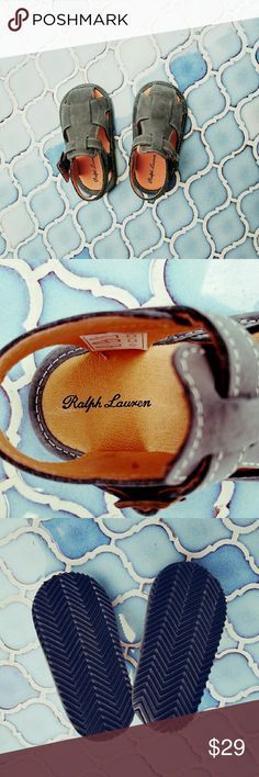 🍉FINAL SALE!🍉 NWOT Ralph Lauren leather sandals! Adorable Ralph Lauren leather sandals with secure buckle closures!  Perfect for your baby or young infant!  From Nieman Marcus -- new & never worn.  Perfect condition.  Size 4 for 9-12 month olds.  So cute! Ralph Lauren Shoes Sandals & Flip Flops