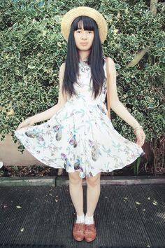 #dress #boaterhat #kawaii #outfit #fashion #summer