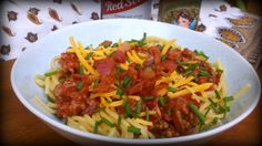 Cowboy Spaghetti by Awesome on 20 #pasta #bacon #beer