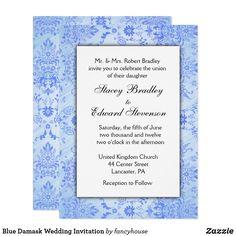 Blue Damask Wedding