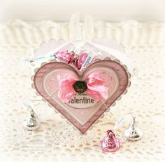How to create this heart shaped treat box using heart nesties