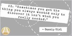 #GossipGirl gossip girl quotes.