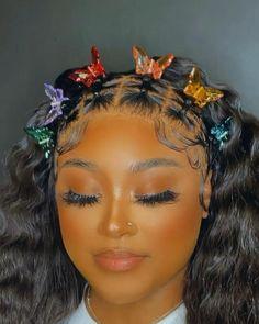 Braids Hairstyles Pictures, Baddie Hairstyles, Ponytail Hairstyles, Weave Hairstyles, Hair Ponytail Styles, Curly Hair Styles, Natural Hair Styles, Wig Styles, Black Girl Braided Hairstyles