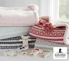 Must have: stroller blankets in classic Fair Isle knits designed to keep baby warm through winter strolls.