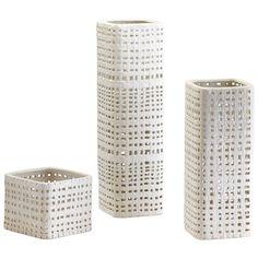 Cordova White And Cream Glaze Large Vase Only Cyan Design Vases Vases Home Decor