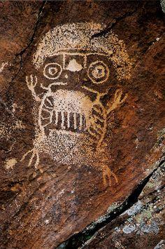 Rock Art, Dinwoody Site, Wyoming by WY Man