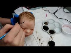 Reborn Dolls, Reborn Babies, Dyi Crafts, Arts And Crafts, Mini Bebidas, Real Looking Baby Dolls, Newborn Baby Dolls, Clay Baby, Hair Painting