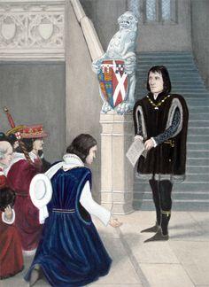 Richard III accepting the crown..