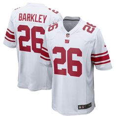 Men s New York Giants Saquon Barkley Nike White 2018 NFL Draft Pick Game  Jersey Giant Games eb45101e4