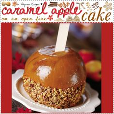 """caramel apple cake (:"" by thebestcookbook on Polyvore"