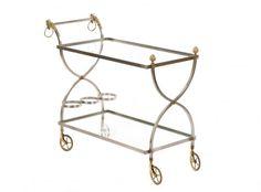 Mid Century Modern Two-Tier Bar Cart : Lot 18. Hammer Price: $800