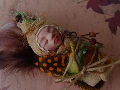 Handmade polymer clay miniature baby  boy Higbee by Tanya Tkacik, €40.00