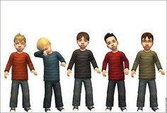 Mod The Sims - Hunks in Training: Big Boy Clothes for your Macho Tots