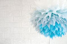 party decoration ...  blue ombre  ... 1 Tissue paper by pomtree, $5.00