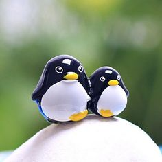 Resin Mini Penguin Micro Landscape Decorations Garden DIY Decor   BidderFace
