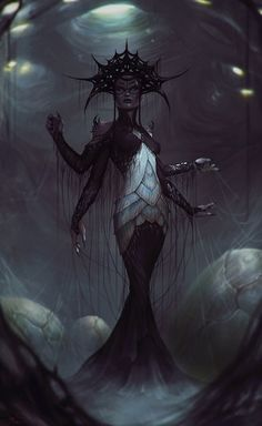 Mephala is a Daedric Prince whose sphere is obscured to mortals, also known by the names Webspinner, Spinner, Spider, and the Anticipation of Vivec. Unlike many other Daedric Princes, who almost always appear as the same gender. Mephala appears as either male or female depending on whom the Daedric Prince wishes to ensnare.