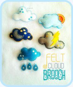 sarang craft : Cloud Brooch