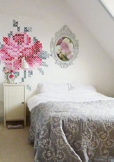 cross stitch mural #popular