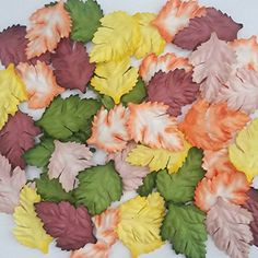 100 Pcs Artificial Leaves Mixed 5 Color Mulberry Paper Crafts Scrapbook Card Making ** For more information, visit image link.