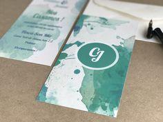 Invitación de boda colección Acuarela modelo Turquoise