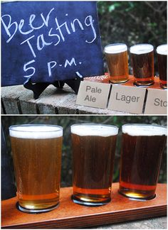 Craft Beer Flights Party #partyplanning #party