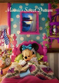 sisa 3Dポストカード ベッドルームミニー S3578 ミニーマウス ディズニー