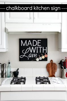 Chalkboard Kitchen Sign made with Mod Podge Mod Melts and Collage Clay #plaidcrafts #modpodge