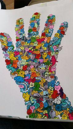 Coloring Doodles Colours Doodle Zentangle