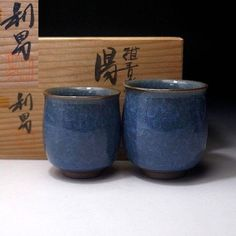 FK4: Japanese Pottery Tea Cups, Kyo ware by Famous potter, Toshio Furukawa | Antiques, Asian Antiques, Japan | eBay!