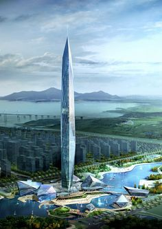 Cheongna City Tower by GDS Architects, Incheon, South Korea