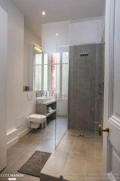 Rénovation et décoration d'un appartement Haussmanien de 200 m2#SDB#Grés cérame#, WOM Design- Stéphanie Michel-Girard - Côté Maison