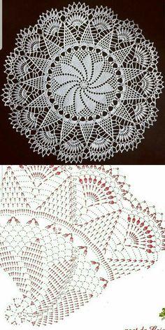 Free Crochet Doily Patterns, Crochet Doily Diagram, Crochet Circles, Granny Square Crochet Pattern, Crochet Art, Thread Crochet, Crochet Designs, Crochet Crafts, Crochet Stitches