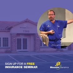Register now for our free insurance seminar on Thursday, September 15th at 5:30pm. Learn the ins and outs of the insurance process and talk to specialists on-site! Space is limited so sign up now: https://blossombariatricsportal.pattrax.com/Seminar