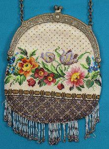 Floral Beaded Bag, 1890-1900 Session 1 - Lot 420 - $50