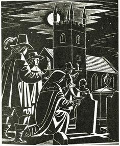 The Wakes - illustration by Eric Fraser from Folklore Myths and Legends of Britain 1973.