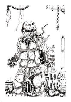 Indonesia future fight ilustration  Jod'i nuari in drawing pen
