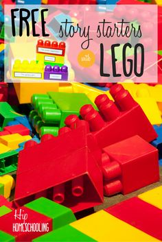 400 Free Lego creative writing prompts for hands on kinesthetic learners: build a story with these free printables and over 400 stories!