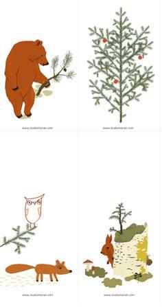 For Christmas: Free Printable Gift Tags - by Camilla Engman http://www.studiomorran.com/studiomorran_christmastags2011.pdf