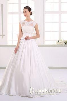 ウェディングドレス プリンセス 2way 取り外し式トレーンとボレロ ビスチェ フレンチ袖 JWLT15017