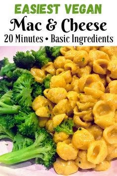 Easy and versatile Vegan mac and cheese that doesn't require any cashews or nutritional yeast! Tastes super cheesy and delicious! Vegan Dinner Recipes, Vegan Dinners, Dairy Free Recipes, Vegan Recipes Easy, Vegan Appetizers, Vegan Mac And Cheese, Mac Cheese, Vegan Milk, Vegan Food