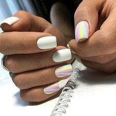 Decorated nail polish fashionable colors of enamel Get Nails, Love Nails, Hair And Nails, Nails Polish, Matte Nails, Cute Acrylic Nails, Acrylic Nail Designs, Stylish Nails, Trendy Nails